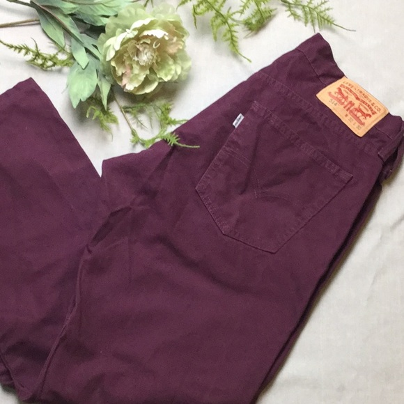 Levi's Other - Men's Levi's 514 Burgundy Jeans 32/27 Straight Fit